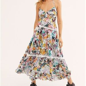 NWT free people Kahlo Printed Top & Maxi S…